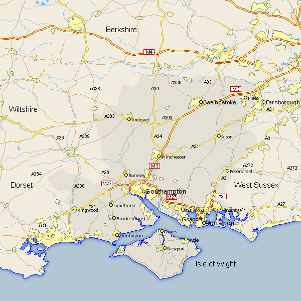 Hampshire - click map to enlarge.